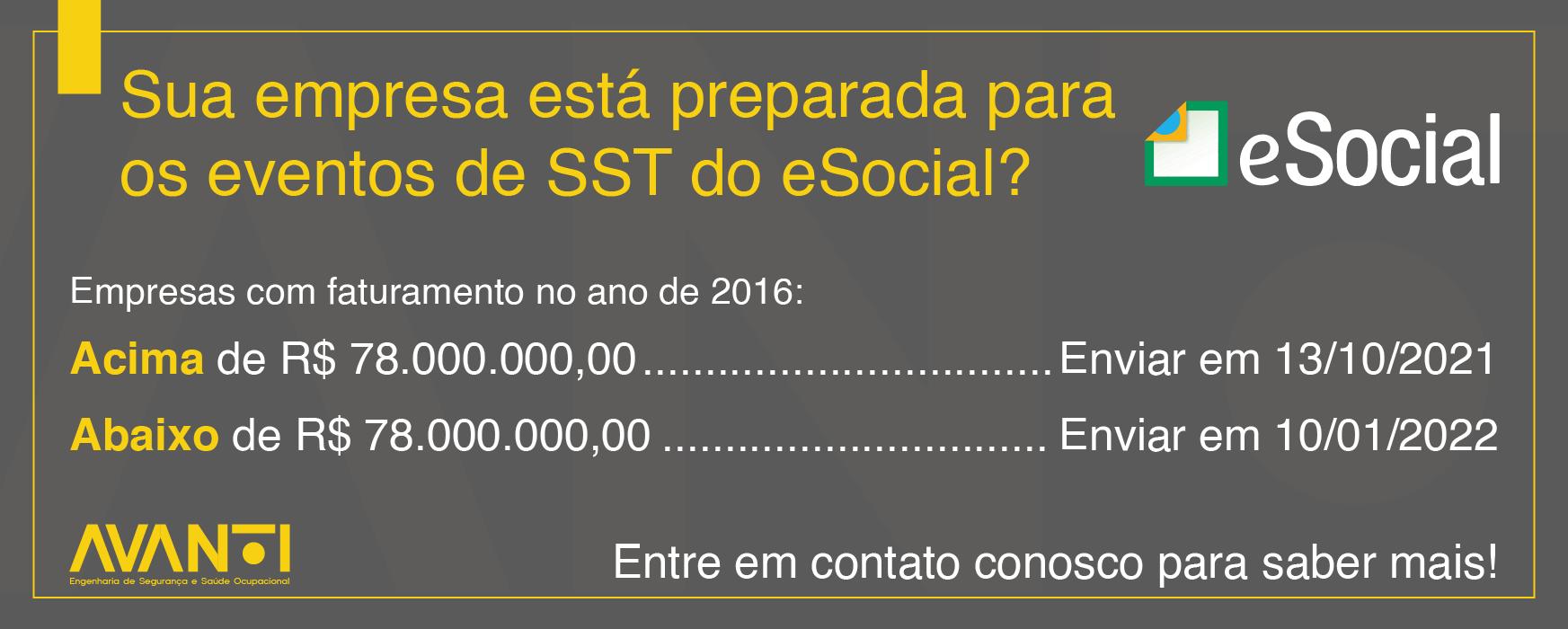 Eventos de SST do eSocial